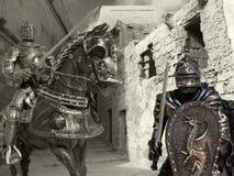 Cavaleiro em Horseback imagem de stock