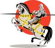 Cavaleiro a cavalo fotografia de stock
