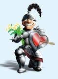 Cavaleiro engraçado Fotografia de Stock