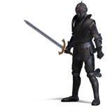 Cavaleiro escuro Imagens de Stock Royalty Free