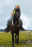 Cavaleiro fêmea Fotografia de Stock