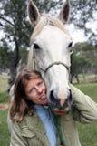 Cavaleiro fêmea Imagem de Stock Royalty Free