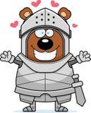 Cavaleiro Hug do urso dos desenhos animados ilustração stock