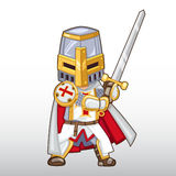 Cavaleiro Illustration de Templar do vetor Fotografia de Stock