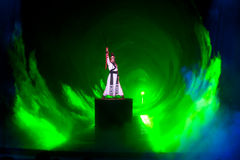 Cavaleiro--A mágica mágica histórica do drama da música e da dança do estilo - Gan Po Imagem de Stock Royalty Free