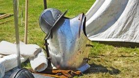 Cavaleiro medieval Armour em uma mostra em Irlanda do Norte imagens de stock royalty free