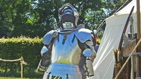 Cavaleiro medieval Armour em uma mostra em Irlanda do Norte fotos de stock