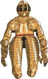 Cavaleiro medieval da armadura do vetor Imagem de Stock