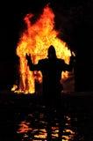Cavaleiro medieval do fogo Fotografia de Stock Royalty Free