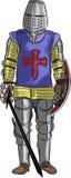 Cavaleiro medieval do vetor Imagem de Stock Royalty Free