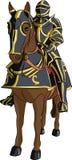 Cavaleiro medieval do vetor na armadura a cavalo Imagem de Stock Royalty Free