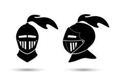 Cavaleiro medieval In Helmet ilustração do vetor