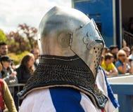 Cavaleiro medieval pronto para o combate Imagens de Stock