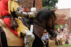 Cavaleiro na armadura Imagens de Stock