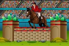 Cavaleiro na competição Fotos de Stock Royalty Free