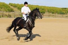 Cavaleiro na mostra de salto Foto de Stock
