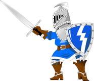 Cavaleiro no azul Fotografia de Stock Royalty Free