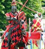 Cavaleiro no cavalo Fotos de Stock Royalty Free