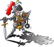 Cavaleiro orgulhoso perigoso com armadura Imagem de Stock