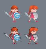 Cavaleiro pequeno bravo Imagens de Stock