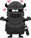 Cavaleiro preto Hug dos desenhos animados ilustração stock