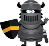 Cavaleiro preto Waving dos desenhos animados ilustração royalty free