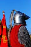 Cavaleiro que espera para lutar Foto de Stock