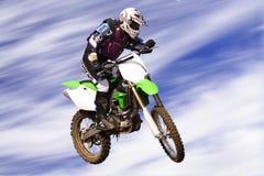 Cavaleiro transversal c de Moto Imagem de Stock Royalty Free