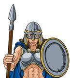 Cavaleiro Woman de Viking Trojan Spartan Celtic Warrior ilustração stock