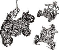 Cavaleiros 12 de ATV. ilustração royalty free
