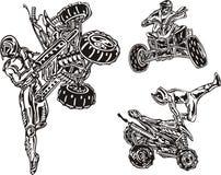 Cavaleiros 2. de ATV. ilustração stock