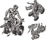 Cavaleiros 4. de ATV. ilustração do vetor
