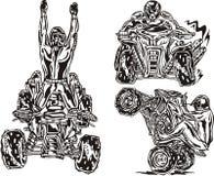 Cavaleiros 6. de ATV. ilustração royalty free