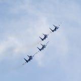 Cavaleiros aerobatic do russo da equipe do russo Foto de Stock Royalty Free