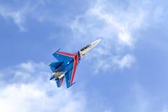 Cavaleiros aerobatic do russo da equipe do russo Fotografia de Stock
