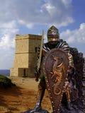 Cavaleiros & armadura imagem de stock