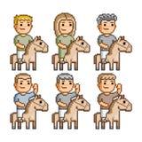 Cavaleiros da arte do pixel Foto de Stock Royalty Free