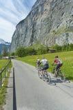 Cavaleiros da bicicleta Fotografia de Stock