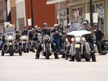 Cavaleiros da caridade de Harley Davidson Fotografia de Stock Royalty Free
