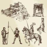 Cavaleiros da Idade Média ilustração stock