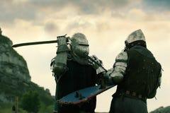 Cavaleiros da luta Foto de Stock