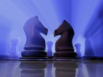 Cavaleiros da xadrez Fotografia de Stock