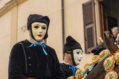 Cavaleiros de Sartiglia Fotografia de Stock Royalty Free
