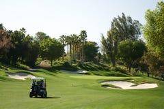Cavaleiros do carro de golfe de Palm Spring Imagem de Stock Royalty Free