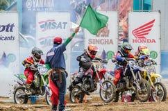 Cavaleiros do motocross Imagem de Stock