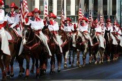 Cavaleiros e cavalos Fotografia de Stock