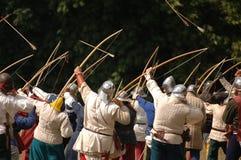 Cavaleiros e setas Fotos de Stock Royalty Free