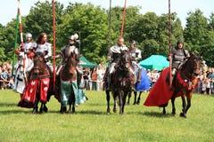 Cavaleiros em horseback fotografia de stock