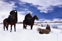 Cavaleiros Hospitaller e o camponês Imagem de Stock