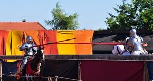 Cavaleiros Jousting Fotografia de Stock